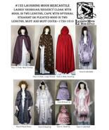 Ladies Late Georgian Regency Cloak Hooded Cape Muff & Muff Sewing Patt L... - $18.00