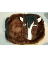 "Vintage Horse Pillow Cover 22 x 18"" 1989 Pillows by Sis 3D Fur, Hair, Eyes - $24.74"
