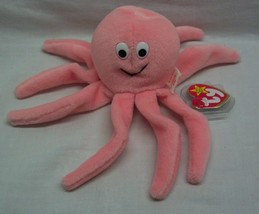 "TY Beanie Baby INKY THE PINK OCTOPUS 6"" Stuffed Animal 1993 NEW - $14.85"