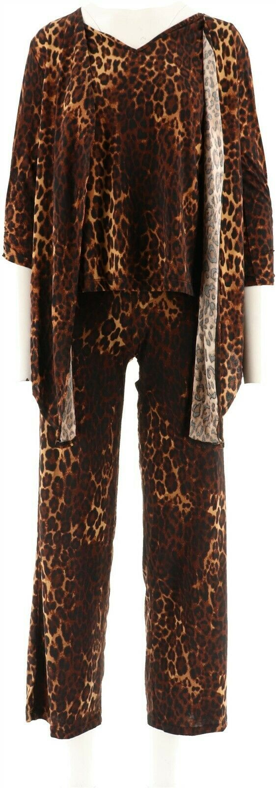 Primary image for IMAN Global Chic Luxe 4-Pc Perfect Party Ensemble LEOPARD XS Short NEW 579-000