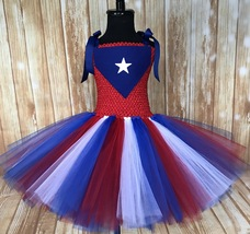 Puetro Rico Flag Tutu Dress, PR Parade Dress, Girls Puetro Rican Festiva... - $40.00+