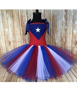 Puetro Rico Flag Tutu Dress, PR Parade Dress, Girls Puetro Rican Festiva... - $40.00+