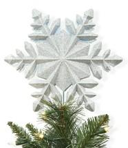 Wondershop 25.4cm Schneeflocke Projektion Einfach Clip Tree Topper Glänzend Neu