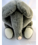 "Toy ELEPHANT Big Ears Sitting Stuffed Plush Soft Grey 11"" Tall - $29.95"