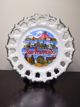 Vintage San Francisco With 5 Attractions Spoked Souvenir Hanging Plate - $17.99