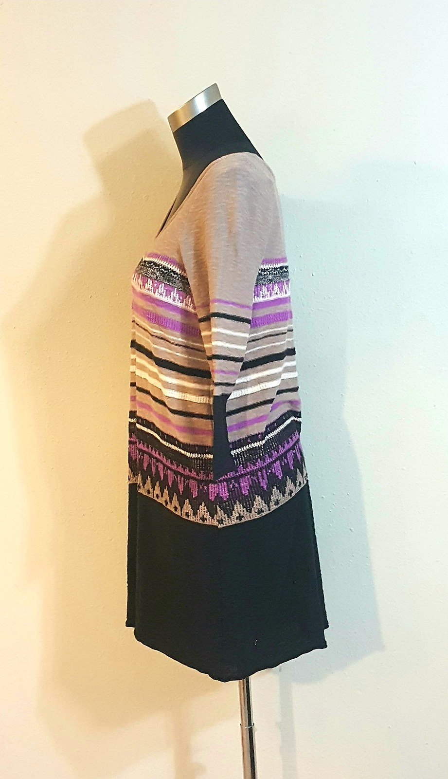 Free People Urban Outfitters Layered Dress Size Medium Wmns Taupe Black Purple