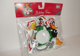 Looney Tunes Vintage Kurt Adler Christmas Ornament Frame Bugs Daffy Tweety  - $8.50