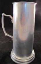 "Tall Playboy Bunny Aluminum Stein Clear Glass Bottom 9"" Vintage - $16.83"