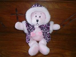 Ganz 2000 Rachel Bear Velvet Leopard Coat 9 inch New  - $58.00