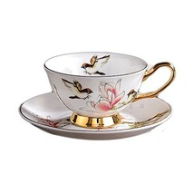 8-Ounce Porcelain Tea Cup coffee cup and Saucer, Set of 2 - $34.23