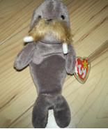 "TY BEANIE 1996 PLUSH 8"" ""JOLLY"" THE WALRUS  WITH PROTECTED EAR TAG - $6.99"