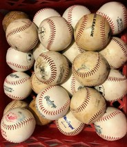 Lot of 12 SYNTHETIC LEATHER practice little big league baseballs SHIPS FREE - $31.63
