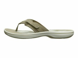 Clarks Breeze Sea Taupe Women's Casual Flip Flop Sandals 25507 - $40.00