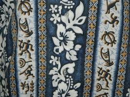 VTG Royal Creations Made in Hawaii Men Blue Tan Tribal Hawaiian Shirt Si... - $29.69