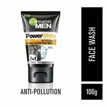 Garnier Men Power White Anti-Pollution Double Action Charcoal Facewash, 100gm - $12.86