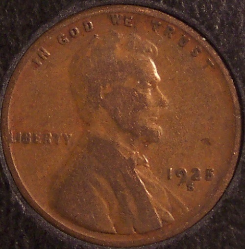 1925-S Lincoln Wheat Back Penny F12 #848 image 4