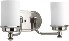 Bathroom Vanity Lighting 16 in. W 2-Light Adjustable Direction Brushed N... - $129.94