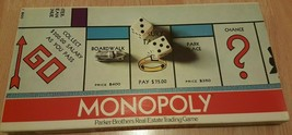 Monopoly Board Game Vintage 1978 Parker Brothers Classic Original Box Complete - $29.65