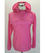 NIKE Womens Transparent Woven Running Jacket Pullover Hooded Reflective ... - $38.60
