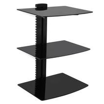 MegaMounts 3 Shelf Tempered Glass Multimedia Mounting Unit - $57.03