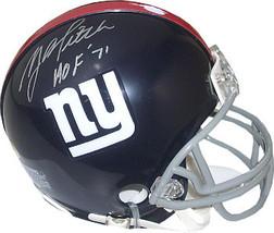 YA Tittle signed New York Giants TB Riddell Mini Helmet HOF 1971 - $68.95