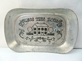 "Wilton Armetale Bless This House Large Bread Tray 9.25"" x 6.5"" 1 Lb 5 oz... - $16.00"