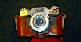 Zeiss Ikon Contaflex Super Camera with hard leather Case AA-192013 Vintage image 6