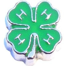 4H Clover Floating Locket Charm - $2.42