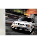 2002 Hyundai ACCENT sales brochure catalog US 02 L GL GS - $6.00
