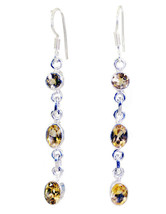 captivating Citrine 925 Sterling Silver Yellow Earring Natural india US ... - $14.84