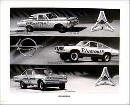 1964 Dodge 330, 1965 Coronet 1969 Plymouth Barracuda Mopar Art Print Lithograph - $14.93