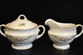 Hutschenreuther Sugar Bowl and Creamer in HUT504 - $42.06
