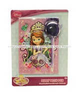 SOFIA THE FIRST 80 Lined Sheets DIARY w/POM POM PEN Purple Feathers DISNEY New!
