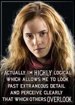 Harry Potter Hermione Granger Saying Highly Logical Refrigerator Magnet, NEW - $3.99