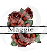 Flower Split Monogram Maggie 107smp-Digital Clipart-Art Clip-Gift Cards-... - $1.99