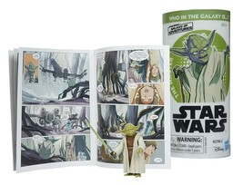 "Star Wars Galaxy of Adventures Yoda 3.75"" Figure with Comic Book MIP - $14.88"