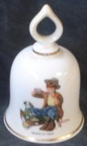 Friend In Need, Norman Rockwell - September 1979 Danbury Mint  Bell COA - $26.72