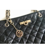 Black Leather Purse, Shoulder Bag featuring Quilted Leather - DKNY - £77.81 GBP
