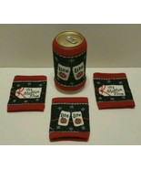(4) New Ugly Miller Lite Christmas Sweater Beer Koozie, Miller Lite Ugly... - $10.48