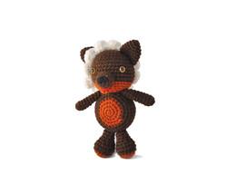 Brown Wolf Handmade Amigurumi Stuffed Toy Knit Crochet Doll VAC - $18.81