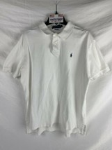 Polo by Ralph Lauren Men's White Polo Collared Shirt -- Size Large - $16.82