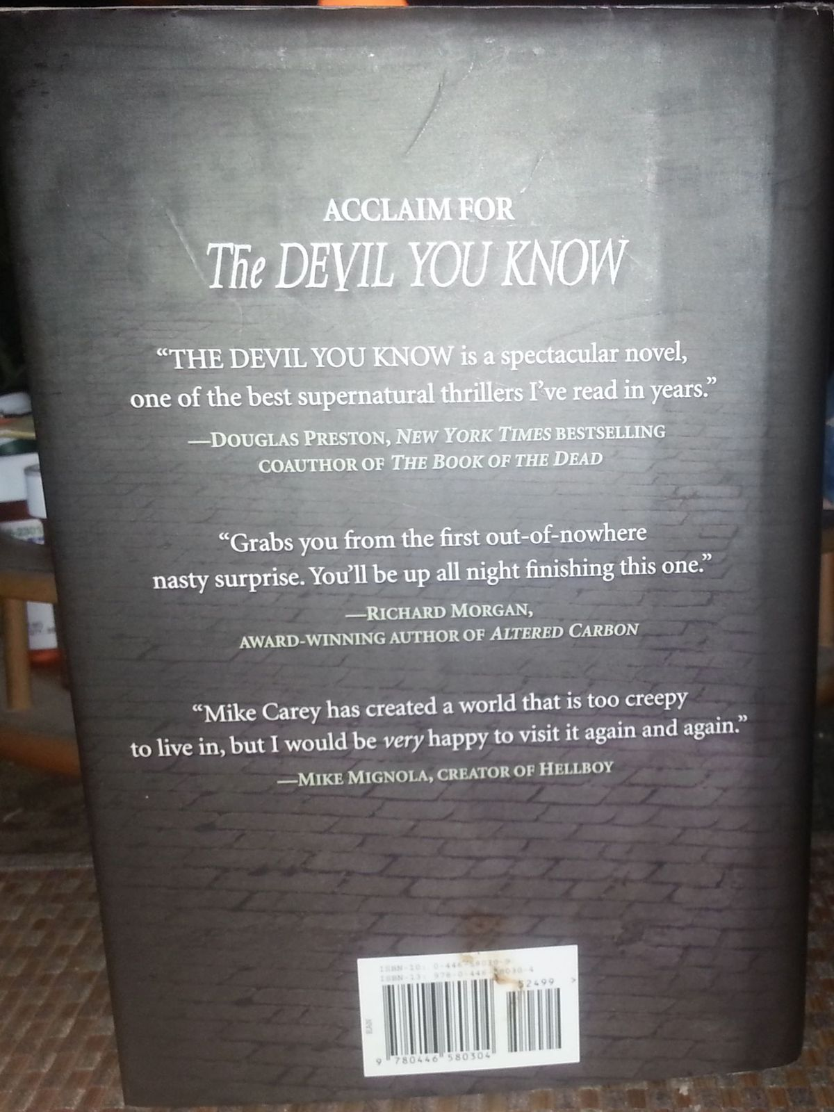 The Devil You Know by Mike Carey 2007 HBDJ Spirits & Ghosts