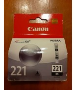 Canon CLI-221 Black Ink Cartridge CLI-221BK 2946B001 Genuine New - $6.92