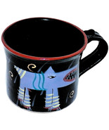 1985 Art Pottery Thorbeck Page LeStudio Memphis Style Purple Mad Dog Cof... - $54.99