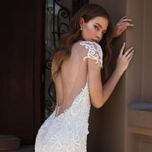 Sexy Open Back Beaded Sequined Lace Slim Elegant Mermaid Wedding Dresses image 4