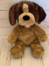 "14"" Build a Bear Brown Teddy Carmel Pup Dog Toy Plush Brown Tan Puppy Un... - $13.85"