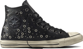 Converse Chuck Taylor Distressed Trainers Black Vintage Shoes Size 3.5UK Leather - $66.87