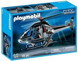 PLAYMOBIL 5975  Tactical Unit Helicopter Playset New Sealed - $101.92
