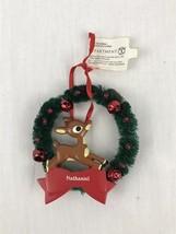 Department 56 Rudolf Reindeer Nathaniel Name Christmas Ornament Wreath B... - $9.97