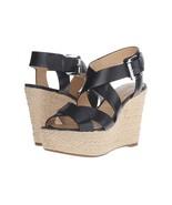 Michael Kors Celia Wedge Women's/Leather/Black/Silver(GP16A)Size:US 9.5 M - $54.99